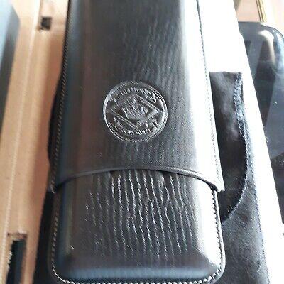 Diamond Crown Leather Series Three Cigar Case Churchill Brown brand new in box Leather Cigar Box