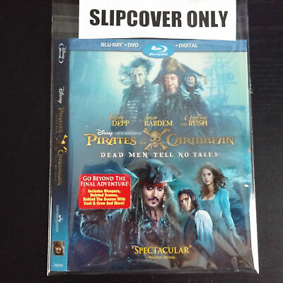 Pirates Of The Caribbean  Dead Men Tell No Tales Blu Ray  Slipcover Only