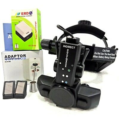 Rechargeable Indirect Ophthalmoscope With 4 Filter Accessories Worldwide Ship