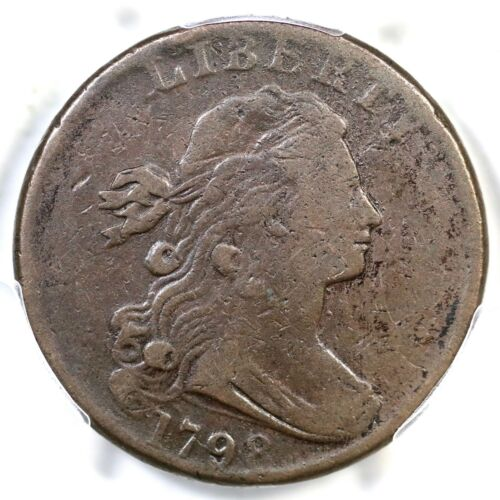 1798 S-185 R-2 PCGS VG 10 Draped Bust Large Cent Coin 1c