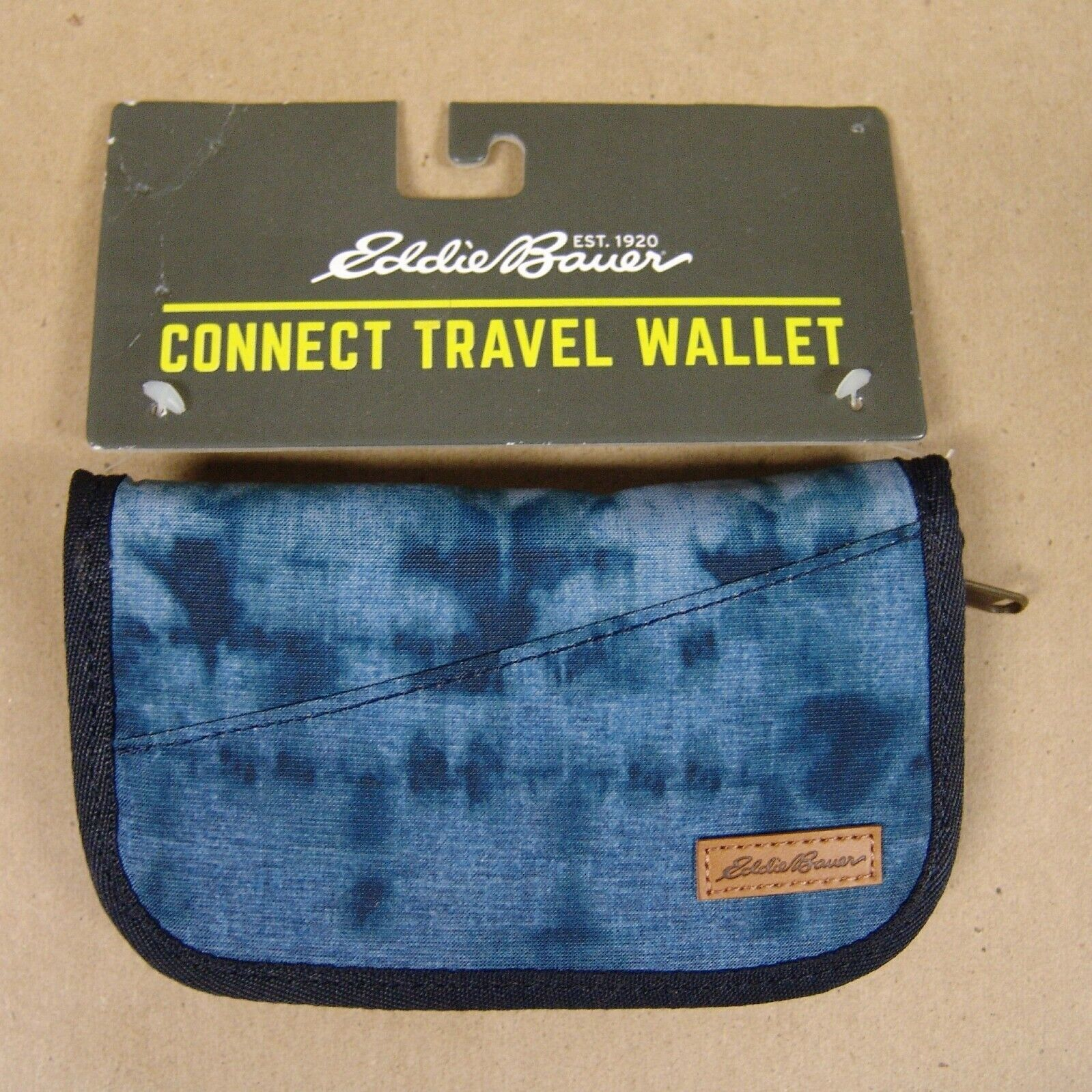 Eddie Bauer CONNECT TRAVEL WALLET - Atlantic Blue - Zippered - Removable Strap - $4.99