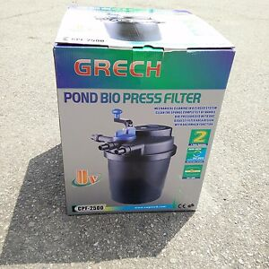 Compact 1500 gallon pressure 13w uvc fish pond bio filter for 100 gallon pond filter