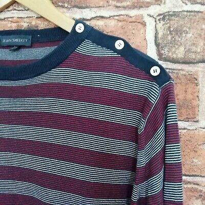 Mens John Smedley Striped/Stripes Sea Island Cotton Knitwear Size Large