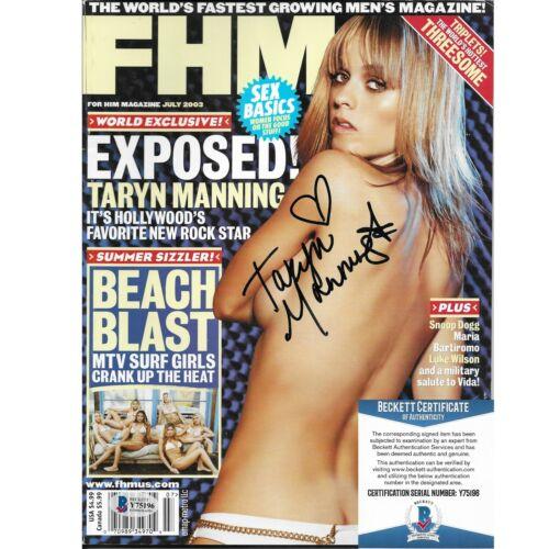 Taryn Manning Signed FHM Magazine Beckett BAS Autograph -Orange is The New Black
