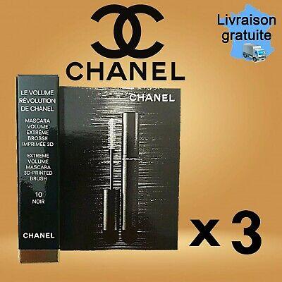 3 mini mascara volume extrême brosse imprimée 3D LE VOLUME RÉVOLUTION 10 Noir