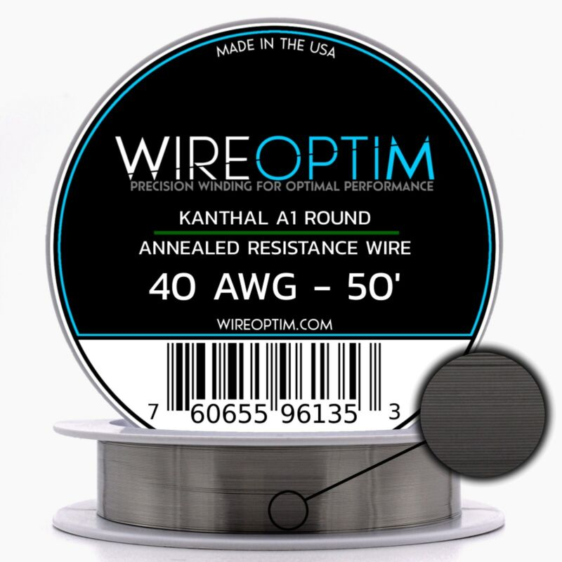 40 Gauge AWG Kanthal A1 Wire 50