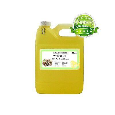32 Oz Walnut Oil 100% Pure Organic Cold Pressed Best Fresh Multi Purpose