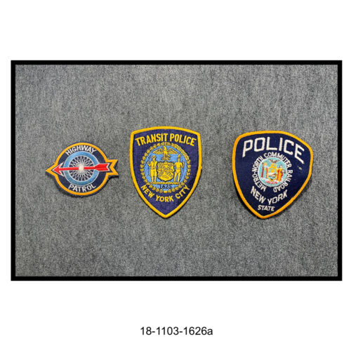 Lot of Three New York State & City Police Shoulder Patches