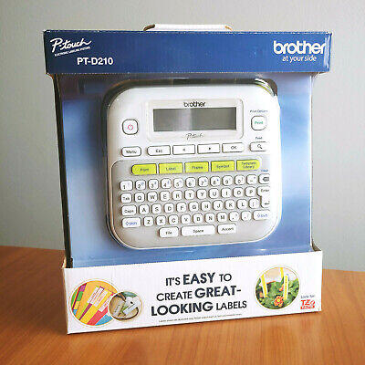 New Brother P-touch Pt-d210 Easy-to-use Label Maker New In Box
