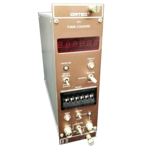 EG&G Ortec 771 Timer-Counter Nim Bin Plug-In Module