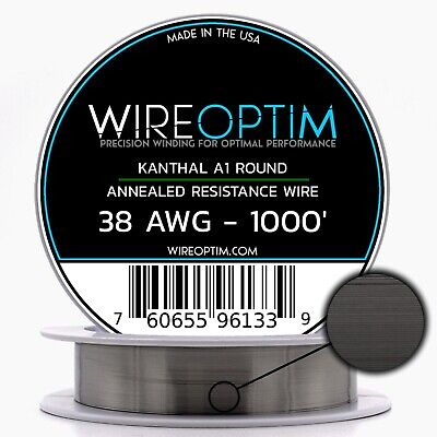 38 Gauge Awg Kanthal A1 Wire 1000 Length - Ka1 Wire 38g Ga 0.10 Mm 1000 Ft