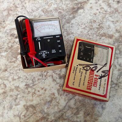 Vintage Micronta 8-range Multitester 1000 Ohmsvolt 22-027u Original Box Manual