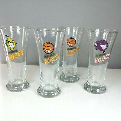 Set Of 4 Hooper's Hooch Alcoholic Drinks Flute Style Glasses