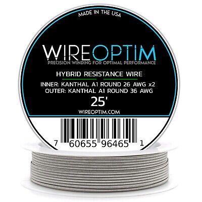 Hybrid Wire - 26k36k Fused - 26 Kanthal A1 2x Core 36 Kanthal A1 Wrap - 25