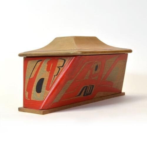 Bentwood Canoe Box 1980 Vern Stephens Gitxsan Native Art