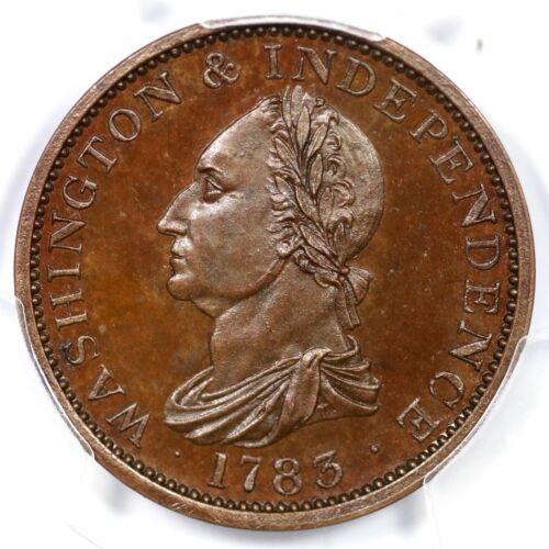 1783 V-14j Pcgs Pr 65 Bn Washington Draped Bust Colonial Copper Coin
