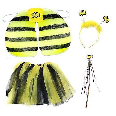 Girls Kids Children's Bee Bumblebee Fancy Dress Costume Accessories Set