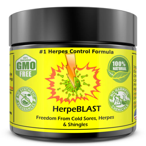 Herpes Treatment Cream Lips Genital Blister Cold Sore Shingles HerpeBLAST