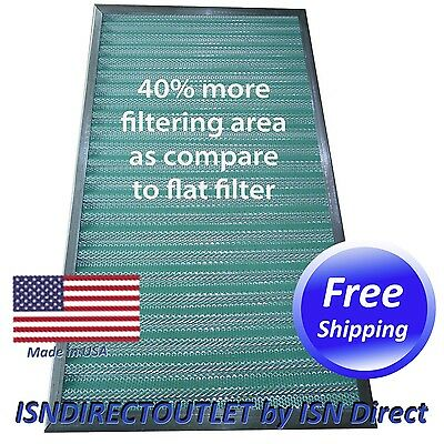 REDUCE ALLERGEN HOME PLEATED AIR FILTER! WASHABLE PERMANENT REUSABLE FURNACE (Reusable Pleated Filter)