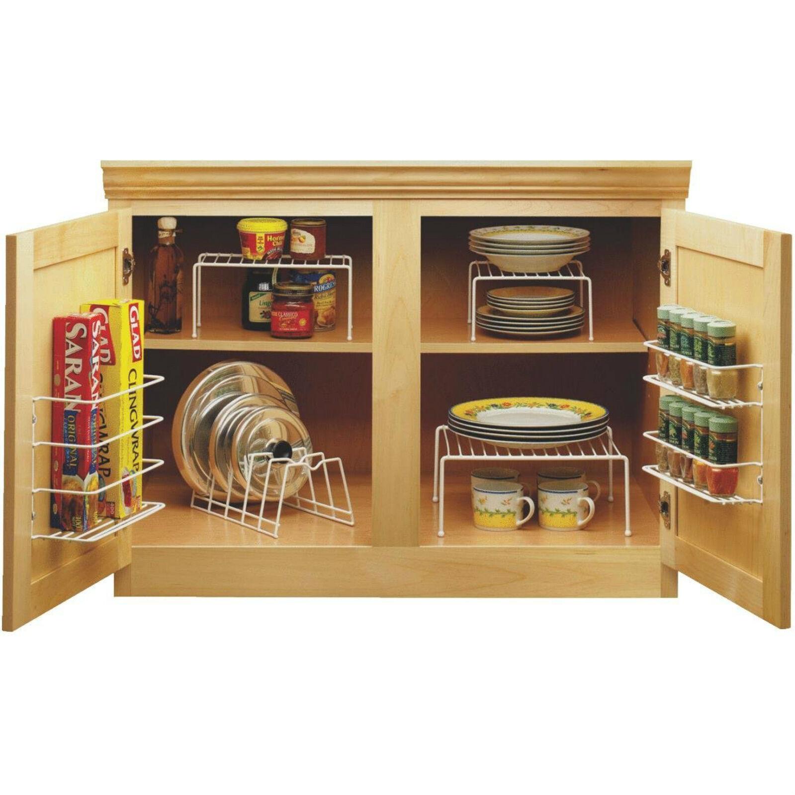 Kitchen Cabinet Space Savers: Kitchen Cabinet Organizer Set Cupboard Space Saver