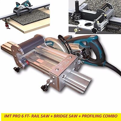 Imt Pro Wet Makita Motor Rail Bridge Saw Edge Profile For Granite- 6 Ft Rail