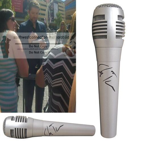 Josh Turner Signed Microphone Country Musician Mic Exact Proof Photo Autograph