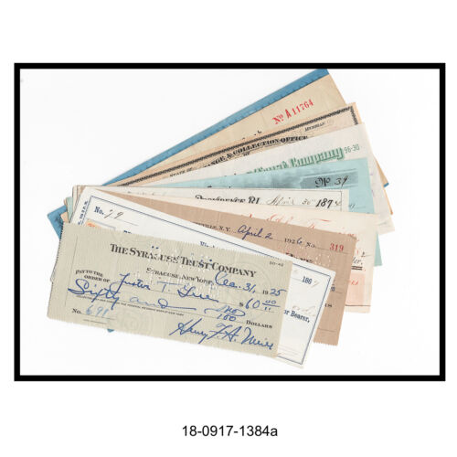 Mixed Lot of Ten Different Bank Checks