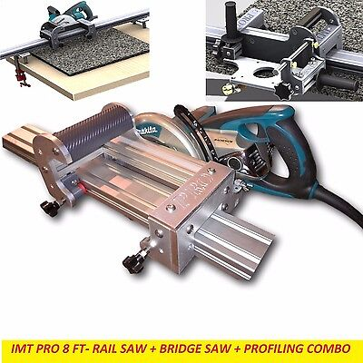 Imt Pro Wet Makita Motor Rail Bridge Saw Edge Profile For Granite- 8 Ft Rail