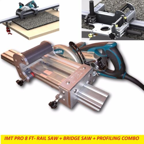 IMT PRO Wet Makita Motor Rail + Bridge Saw + EDGE Profile for Granite- 8 Ft Rail