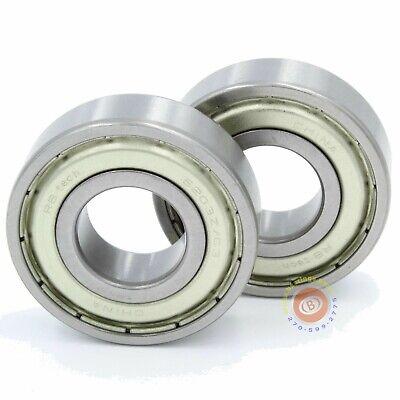 6203-2zz Ball Bearing 17x40x12 Mm 6203 Zz Sealed Qty 2