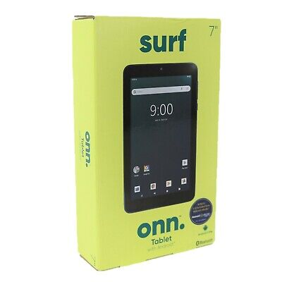 """New ONN. Surf 7"""" Android Tablet 9.0 Pie 16GB 1.3GHz Quad-Core 2 Camera Bluetooth"""
