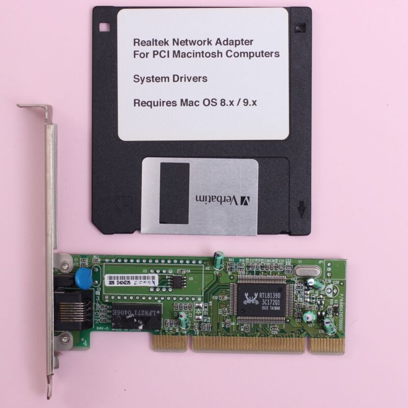 Details about Apple Macintosh PCI 10/100 RJ45 Network Ethernet Card 100Mbit  For Mac OS 8 x 9 x