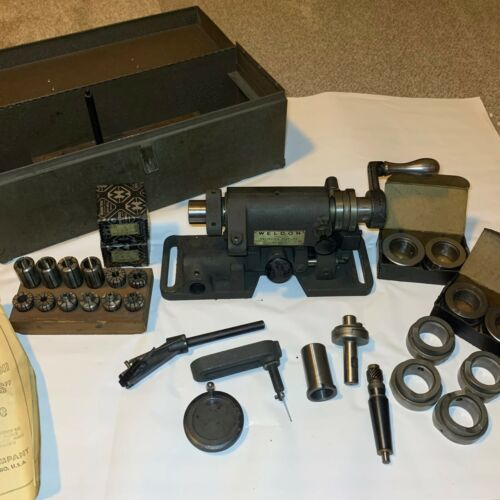 """Weldon Model """"S"""" Relieving Fixture with Case, Tooling, and manuals"""