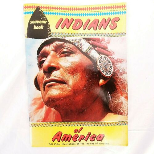 Souvenir Book Indians Of America Full Color Illustrations Native American