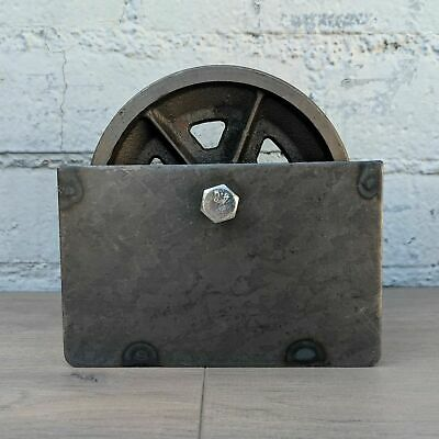 6 V Groove 78 Iron Steel Caster Metal Gate Wheel With Optional Box