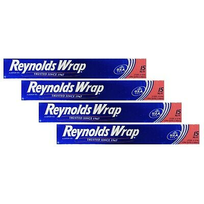 Reynolds Wrap Standard Aluminum Foil Roll 12 In X 15 Ft Pack 4 6 8 10 12