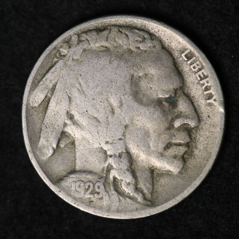 1929-D Buffalo Nickel G / VG FREE SHIPPING