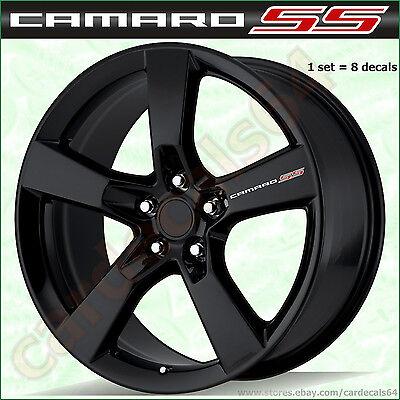 8 X Camaro SS Wheel Decal Sticker Door Handle Chevrolet Emblem Logo Vinyl  A Camaro Ss Wheel Emblems