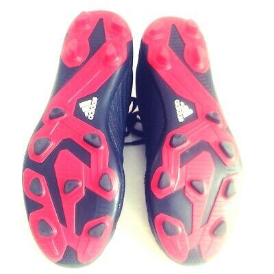 Adidas Boys Soccer Shoes Predator 18.4 Cleats Size 4 YOUTH FG Football Black