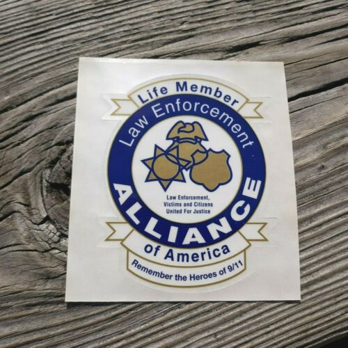 "Law Enforcement Alliance of America Life Member 3.5"" Clear Decal"
