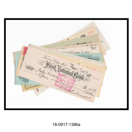 Lot of 10 Different Bank Checks