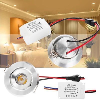 Recessed Mini (Mini LED Recessed COB Ceiling Light Downlight Bulb 3W 85V-265V High Power Lamps)