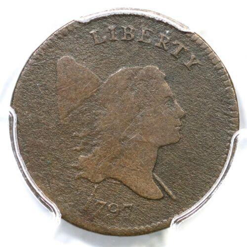 1797 C-1 R-2 PCGS VG Details 1 above 1 Liberty Cap Half Cent Coin 1/2c