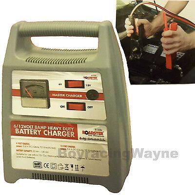 6V 12Volt 8 Amp Switchable Fast Slow Car Van Boat Bike Portable Battery Charger