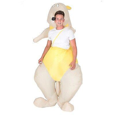 AUFBLASBARES KÄNGURUKOSTÜM FÜR ERWACHSENE TIERE ZOO AUSTRALIEN WALLABY - Zoo Tier Kostüm Für Erwachsene