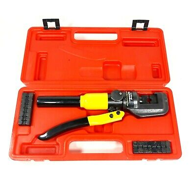 Central Hydraulics Hydraulic Wire Crimping Tool W Case 12-0 Awg Crimping Dies