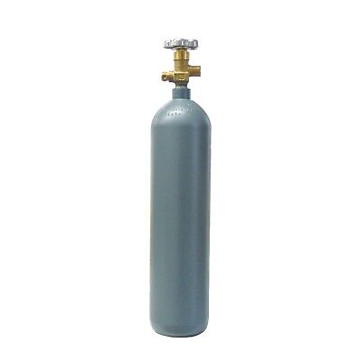 4 Lb Steel Co2 Cylinder Reconditioned - Fresh Hydro Cga320 Valve - Free Shipping