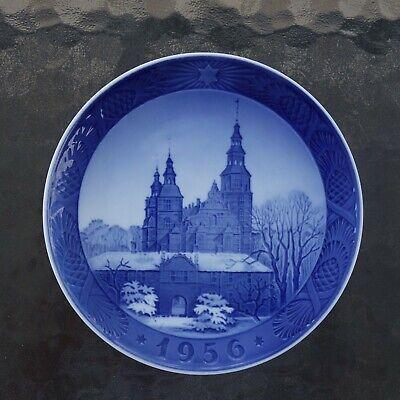 1956 Royal Copenhagen Christmas Plate ROSENBORG CASTLE DENMARK Collector's