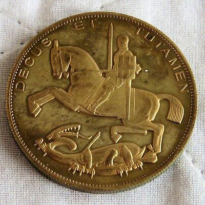 EDWARD VIII 1937 GOLDEN ALLOY PROOF PATTERN ROCKING HORSE CROWN ME - mintage 18