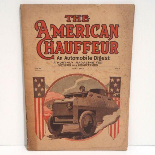 1917 AMERICAN CHAUFFER Automobile Digest w/ Photos, Ads, Yosemite Maps VGC